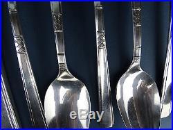 Art Déco Besteck CAPRI Silver Plate 30 tlg Rogers Oneida Antique Cutlery um 1935