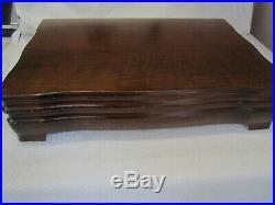Art Deco Rogers Bro 1847 lovelace Silverplate Flatware Set w box No Mono 62 Pc
