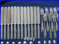 Atq ORANGE BLOSSOM 70-pc Svc for 12+ Serving Pcs Silverplate Rogers 1910 Ex NoMo