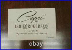 CAPRI 1881 Rogers silverplate 79 pcs COMPLETE SET for 12 plus serving peices