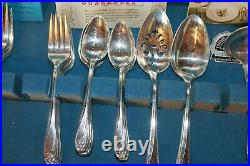 Daffodil Rogers Silverplate Flatware 53 Piece Set Service for 8