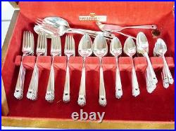 ETERNALLY YOURS 1941 CASED SET 12 X 7pc PLACES w SERVERS 89 PCS BY 1847 ROGERS