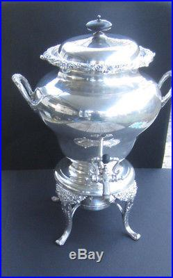 Early Rogers & Bros IS Silverplate 1847 30 Cup Coffee Urn Hot Water Pot Samovar