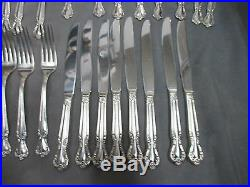 Elegant Rogers & Bro Reinforced Silver Plate Flatware Set 39 Piece