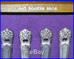 Excellent 1847 Rogers Bros Eternally Yours Service For 12 Anniversary Set In Box