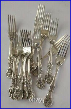 FB Rogers French Rose Silver Plate Flatware 62 Piece Service for 12