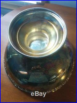 FB Rogers SILVER PLATE PUNCH BOWL and TRAY with 20 CUPS AND LADLE