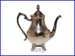 FB Rogers Silverplated Tea or Coffee Service Set With 12 Tray Sugar and Creamer