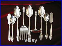 FIRST LOVE Silverplate 105 piece Dinner Set & Chest 1847 Rogers Flatware