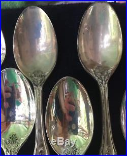 F. B. Rogers China Silver Plated Flatware Set 64 PC French Rose
