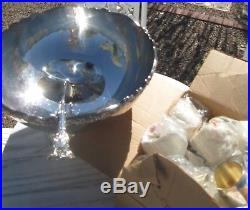 F B Rogers Fancy Silver Plate Party Punch Bowl Set Ladle & 20 Cups Date 1883