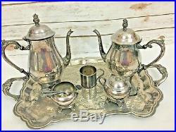 F. B Rogers Silver Co 1883 Silverplate 8 Pc Coffee Tea Service Set