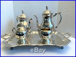 F. B Rogers Silver Co 1883 Silverplate Coffee/Tea Service Set