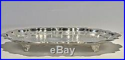 Fabulous Vintage FB Rogers Rectangular Silver Plated Tray With Four Legs