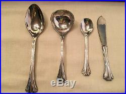 Flatware Service 16 + 4 Serving Piece American Chippendale Silverplate FB Rogers