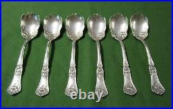 GLORIA aka GRENOBLE 6 Ice Cream Forks 1906 Rogers Silverplate No Monograms TC
