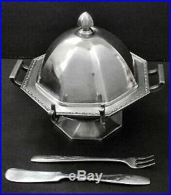 GORGEOUS! Atq F. B. ROGERS #515 Slvr Plated Shell Biscuit Bun Warmer Basket Box