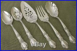 HERITAGE 1847 Rogers silverplate 56pc COMPLETE SET for 8 in Pacific cloth chest