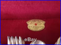 HERITAGE Silverplate 1847 Rogers Bros IS Silverware with With Case-65 pieces