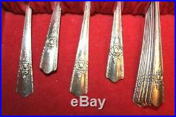 Harmony House Plate AA+ 1847 WM Rogers Bros Silverware Utensils with Chest