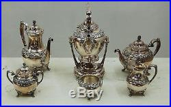 Heritage Silver Plate Tea Set, Stamped Heritage, 1847 Rogers Bros #7764