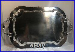 LG Silver plated Tray Antique FB Rogers Footed Waiter Buttler Lady Margaret 6377