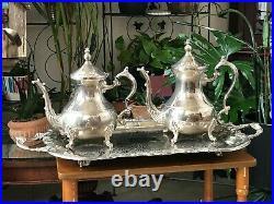 Lady Margaret FB Rogers Silverplated 5 pc Tea Set