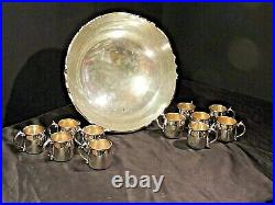 Large FB Rogers Silver Plate Punch Bowl Set AA21-1010 Vintage