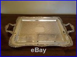 Large WM Rogers 1950's silver plate serving tray (platter)