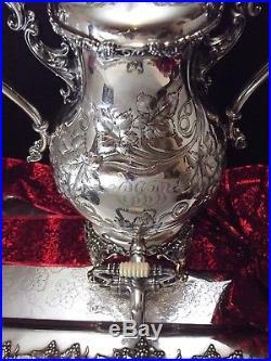 Meriden Britannia/1847 Rogers VINTAGE Chased Grape 16 1/2 SAMOVAR/Coffee URN