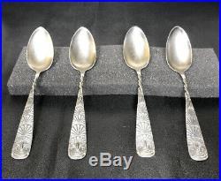 OWL (1892) By 1847 Rogers Bros. International Silverplate Demitasse Spoons (4)