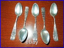 OWL (1892) By 1847 Rogers Bros. International Silverplate Demitasse Spoons (5)