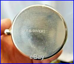 Obo Huge Antique F. B Rogers 1883 Silver Plate Grapevine Punch Bowl 12 Cups Obo