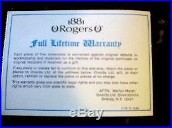 Oneida 1881 Rogers Silverplate Flatware FLIRTATION 79 piece Service for 12