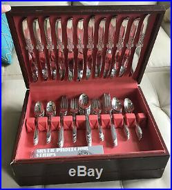Oneida Wm Rogers Silver Overlaid Wildwood Always 79 piece Silverware Set