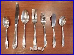 Outstanding Rogers Bros. Daffodil Silverplate Flatware Set 52 Pc + Slotted Spoon