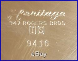 PAIR-1847 Rogers Bros Candelabra Heritage #9416 Candlesticks-Candelabra S/Plate