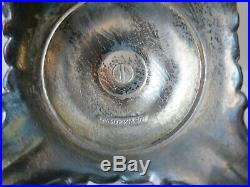 Pr Antique WM ROGERS & SON Silverplate Victorian Rose 3 Light Candelabras