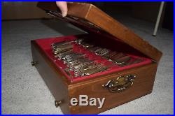 RARE 125 Pc. FIRST LOVE 1847 Rogers Bros Silverware Set Full with Box