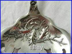 RARE 1847 Rogers Bros. Charter Oak Ice Spoon Server Silverplate ACORN FLATWARE