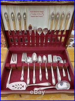 Rare 1847 Rogers Bros First Love Collection Vintage Silverware Set Silver Spoon Silver Plate Rogers