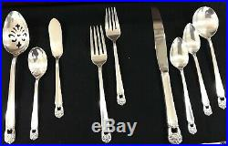 ROGERS BROS 12 PLACE SETTINGS ETERNALLY YOURS SILVERPLATE FLATWARE 63 Piece Full