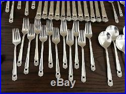 ROGERS BROS 12 PLACE SETTINGS ETERNALLY YOURS SILVERPLATE FLATWARE 64 Piece Full
