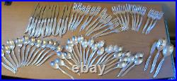 ROGERS SILVERPLATE FLATWARE LEILANI Service for 12 73 Piece set Free Shipping