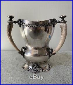 Rare Antique 1883 F. B Rogers Newport Ri Horticultural Silver Plate Trophy Award