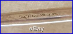 Rare Ice Tongs Rogers Silver Plate Pierced Scoop Detailed Bird Claw Persian