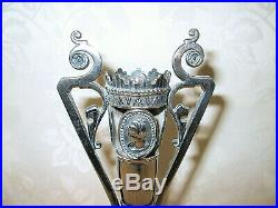 Rare Victorian 1860's Rogers Smith & Co Cameo Metal Holder With Epergne Vase