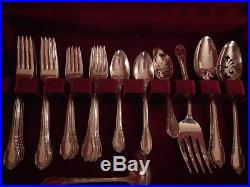 Remembrance 1847 Rogers Bros Silverplate flatware set for 12 with 8 serving pc