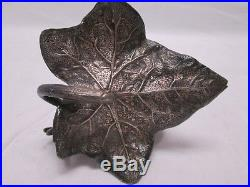 Roger Smith Co Meriden Ct Silver Plate Napkin Ring #20 Bird Large Leaf
