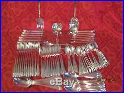 Rogers 1847 Daffodil 12 pc silverplate set/w serving pieces 82 piece set